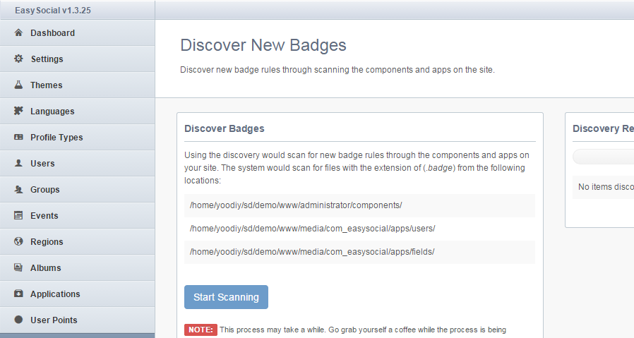 Discover Badges